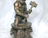 Thor Bust, Bronze Finish