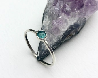 Dainty Stack Jewelry / Stackable Ring / Nesting Ring / Birthday Jewelry Best Friend / Tourmaline Ring / Promise Ring / Sweet 16 Ring