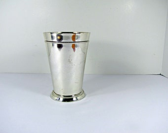 Vintage SILVERPLATE VASE Office Organizer Candle Holder Flower Bouquet Floral WEDDiNG
