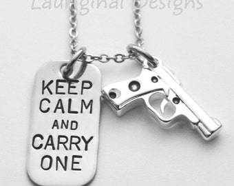 Gun necklace - Conceal carry necklace - stainless steel