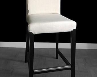 Plain Linen IKEA HENRIKSDAL Bar Stool Chair Cover