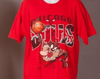 Vintage 90s CHICAGO BULLS Taz Tshirt - XL