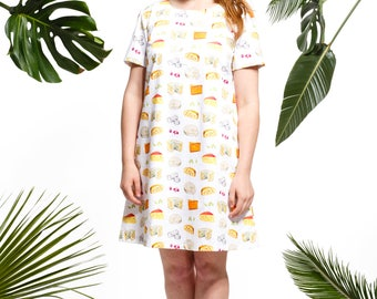 Handmade cheese shift dress, cheese clothes, cheese gifts