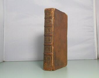 Antique Leather Book 1768 Essai sur la Marine des Anciens, et Particulierement sur Leurs Vaisseaux de Guerre French Language Fold Outs
