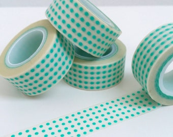 Classic Teal Dot Washi Tape
