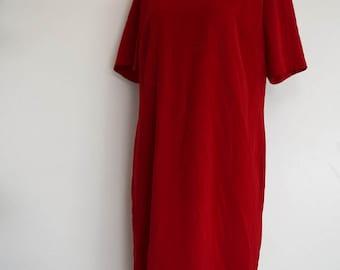 salvation armani vintage red shift dress - red shift - womens red dress - vintage red dress - perfect red dress - vintage size 14