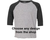 Choose any design from this shop printed on Toddler Baseball Fine Jersey Tee - Unisex for boy or girl - great birthday gift