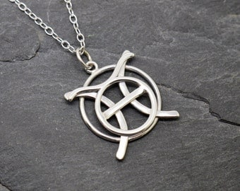 Pisces taurus necklace sterling silver
