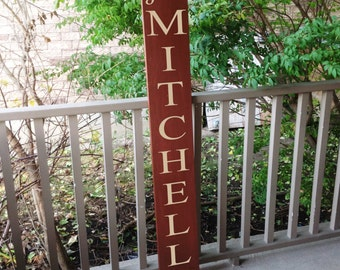 Personalized Vertical Outdoor Sign Front Door Decor Family Name Sign Custom Wood Signs Welcome Sign Anniversary Gift Wedding Gift