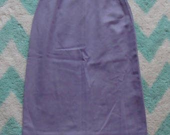 purple wool VINTAGE PENCIL SKIRT garland downyspun xxs xs 23.5 waist