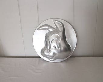 1970's Wilton Rabbit Cookie Pan - Easter Bunny Pan - Cookie Pan - Easter Bunny - Easter Dessert - Aluminum