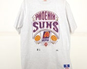 1990s Phoenix Suns Basketball T-Shirt Shirt Size Large Nutmeg Mills