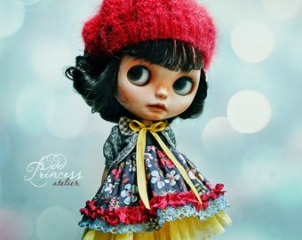 STRAWBERRY SORBET Blythe/Pullip Beret, New Collection By Odd Princess Atelier