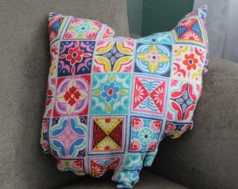 State of Ohio Accent Pillow Colorful Tile Flannel (Ready to ship!)