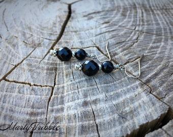 LAST ONES! Black Onyx Earrings, Black Earrings, Sparkle Earrings, Fashion Earrings, Gemstone Earrings, Dangle Earring, Healing Crystal