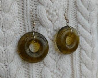Recycled Wine Bottle Earrings