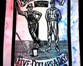 Cumberland Blues Variant- Grateful Dead Linocut