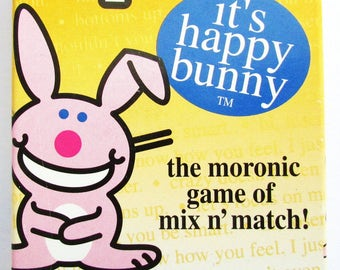 Its Happy Bunny Card Game, the moronic game of mix and match