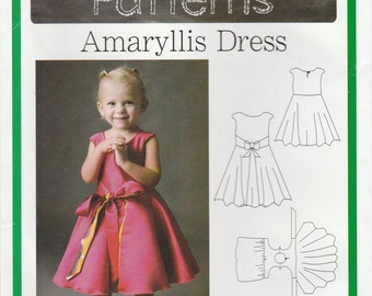 Girls Reversible Wrap Dress Pattern Blank Slate Amaryllis F739 Sizes 18 months to 8  Uncut