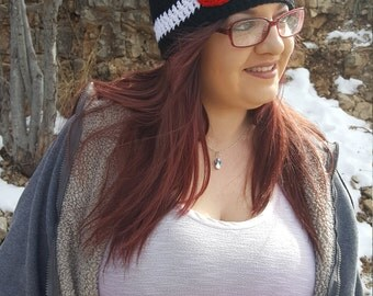 Black Colorado Crochet State Flag Hat, Adult Size Beanie, Colorado Hat, Colorado Pride, State Flag, Black Beanie, Winter Beanie