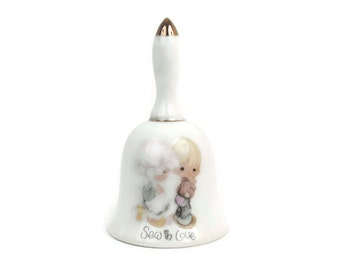 Vintage Precious Moments Bell SEW IN LOVE Enesco Imports Made in Japan Jonathan David