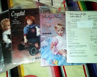 19 Doll Making and Clothing Patterns Lot