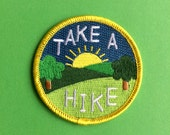 Take a Hike Embroidered Patch Funny Iron On Patch Explore Patch Walking Patch Hiking Patch Nature Patch Adventure Patch Explore Patch