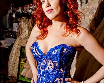 Royal Blue Corset Top and Skirt - Let's Dance!