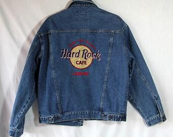 Hard Rock Cafe Denim Jeans Jacket London
