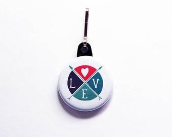Love Zipper pull, Love Zipper charm, Wedding favor, Stocking stuffer, backpack zipper pull, Love, Valentine's Day, Wedding Party Gift (7636)