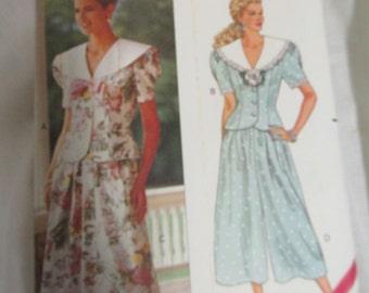 Butterick 5310 Jessica Howard Uncut Size 6-8-10 Misses Petite Top, Skirt & Split Skirt