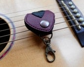 Guitar Pick Leather Case Christmas Gift Pick Pouch Keyring Guitarist Accessory Gift for him Gift for her