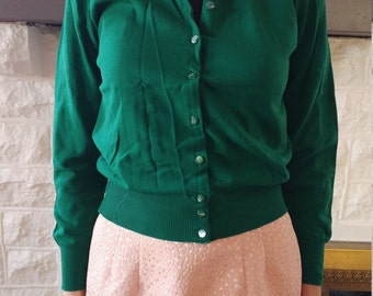 Forest green 40s cardigan