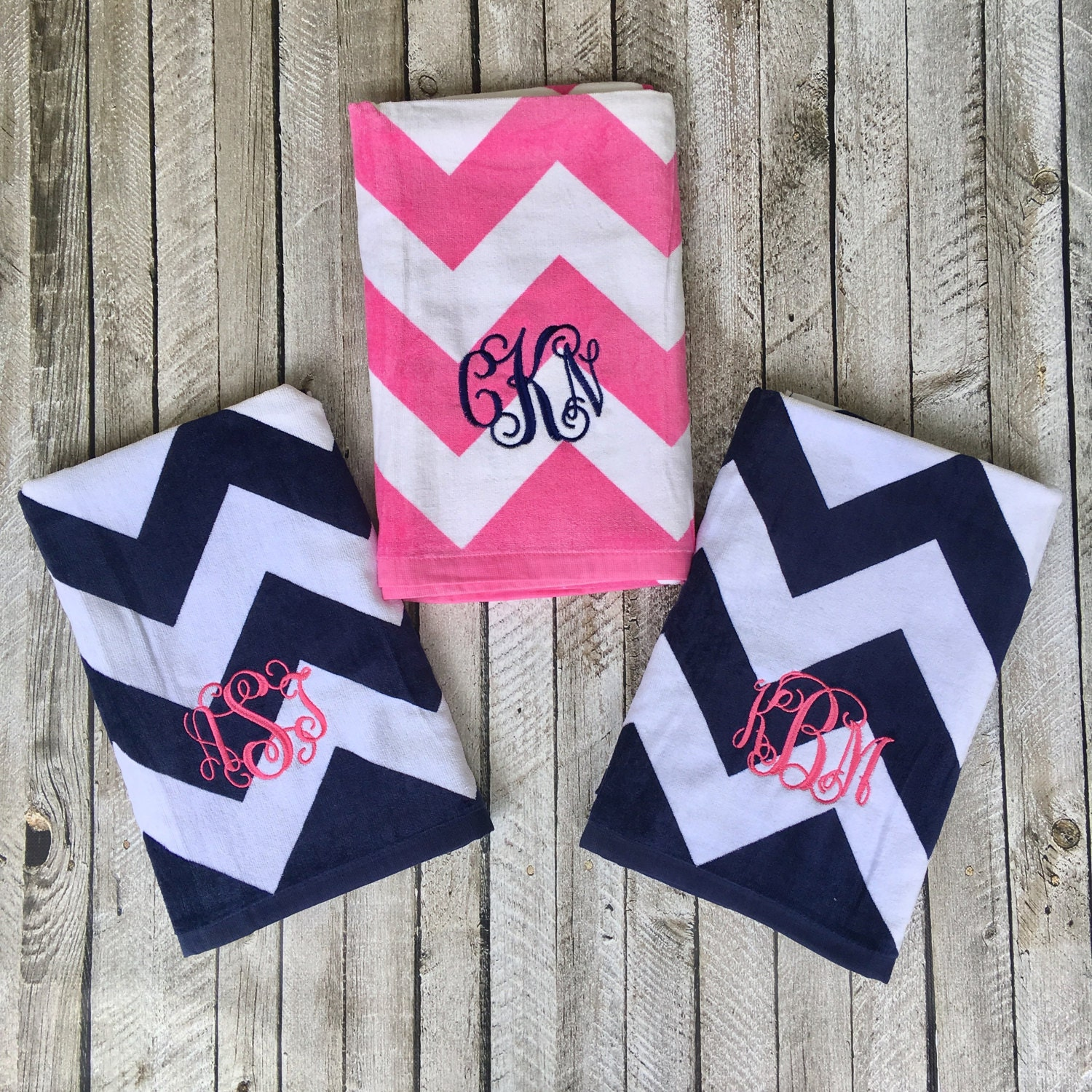 Monogrammed Beach Towels Monogrammed Gifts Bridesmaid Gifts