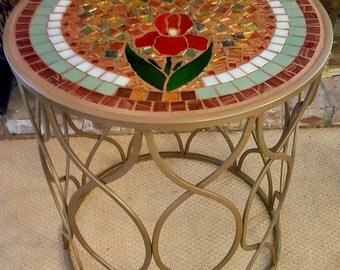 Elegant Mosaic Table for indoors or patio