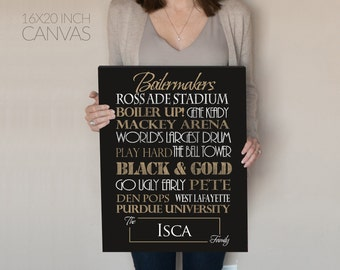 Purdue University. Purdue Vintage. Purdue Boilermakers. Purdue Sign. Purdue Canvas. Purdue Graduation. Purdue art. gift for men. Purdue gift