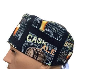 Unisex Scrub Cap - Summer Ale Beer scrub hats - Craft Beer Brew Scrub Hats -Surgeons Scrub Cap - Doctors Gift - Fancy Scrub Hat - Nurses hat