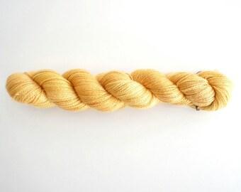 Cash Silk lace yarn in yellow, SweetGeorgia Yarns, Goldmine colour way, cashmere silk yarn, cashmere, silk