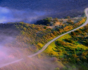 East Topanga Fire Road by Catherine Roché, California Landscape Photography, Nature Photography, Fog Photography, Fine Art