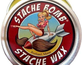 Stache Bomb Stache Wax--- Moustache Wax From Maine