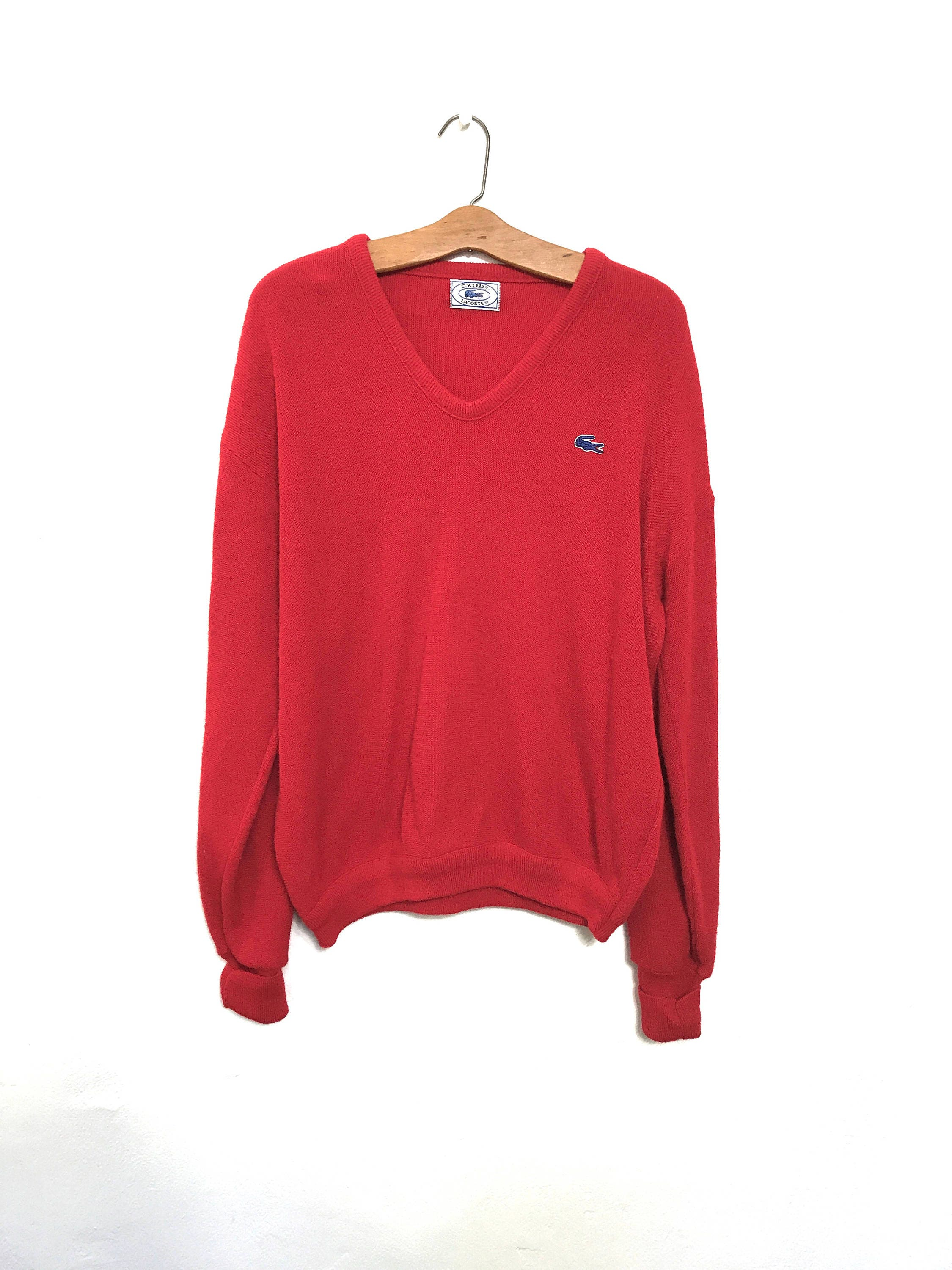 70's Izod Sweater Red Izod Sweater Izod Lacoste 80's