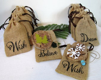 DIY Wooden Ornament Kit--Christmas Trees or Snow Flakes: Beginner Pack, Driftwood Tutorial, Creative Gift, Make Your Own, Ships Next Day!