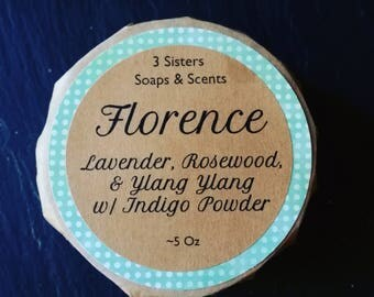 Florence ~ Floral Essential Oil Blend: Lavender, Rosewood, & Ylang Ylang ~  Organic Ingredients ~ Conflict Palm Oil Free
