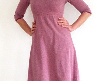 Dress form A 3/4-sleeves, dusky pink, warm, Empire