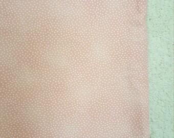 Peach Fabric - Garden Pindot by Michael Miller