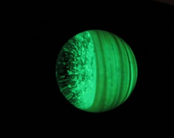 Glow in the Dark Glass Marble - K Hole