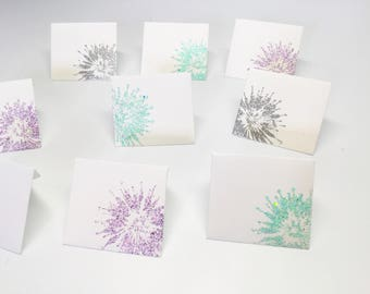 Sale! Tooth fairy envelopes - Tiny envelopes with inserts - mini envelopes with a touch of sparkle,  pastels miniature envelopes - handmade