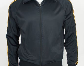 Vintage Classic 3-Stripe Track Jacket size Medium Made in the USA