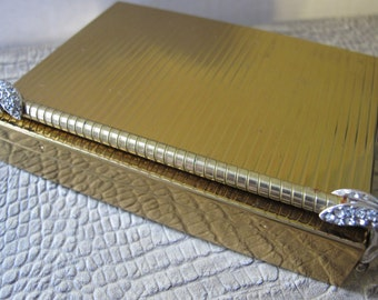 VOLUPTE USA Minaudière Compact CarrryAll Evening Purse Golden Age of Hollywood Chic. All In 1 Cosmetics Carry Case Purse Hand Clutch EVENING