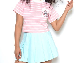 Vintage 90's Pastel Blue Tennis Skirt Sz M